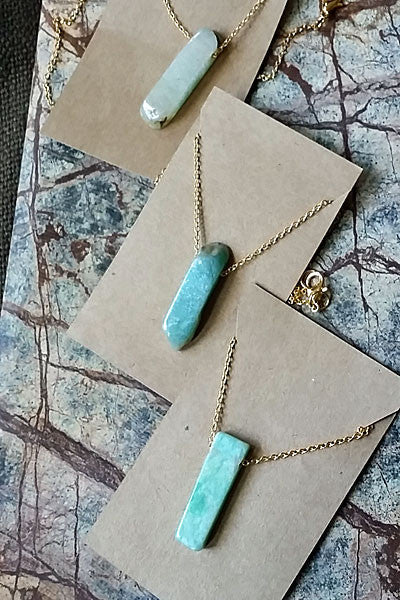 Amazonite Natural Stone Necklace - Natural Clothing Company
