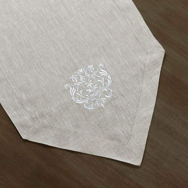 Linen Embroidered Runner