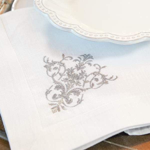 Linen Napkin Embroidered - Victorian