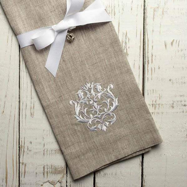 Linen Embroidered Finger Towel