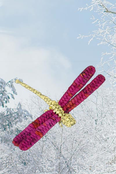 Recycled Paper Clip Ornament - Dragonfly