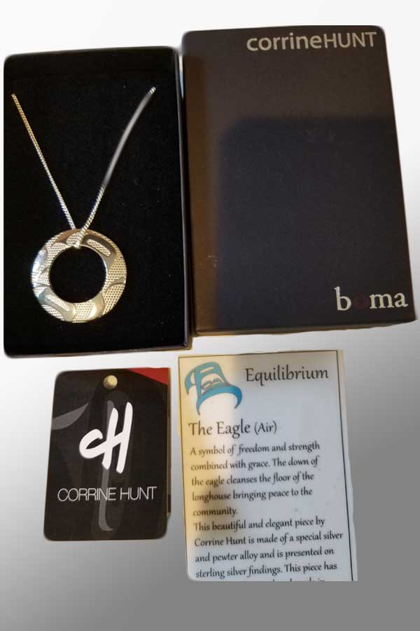 Equilibrium Silver Pewter Pendant - art by Corrine Hunt