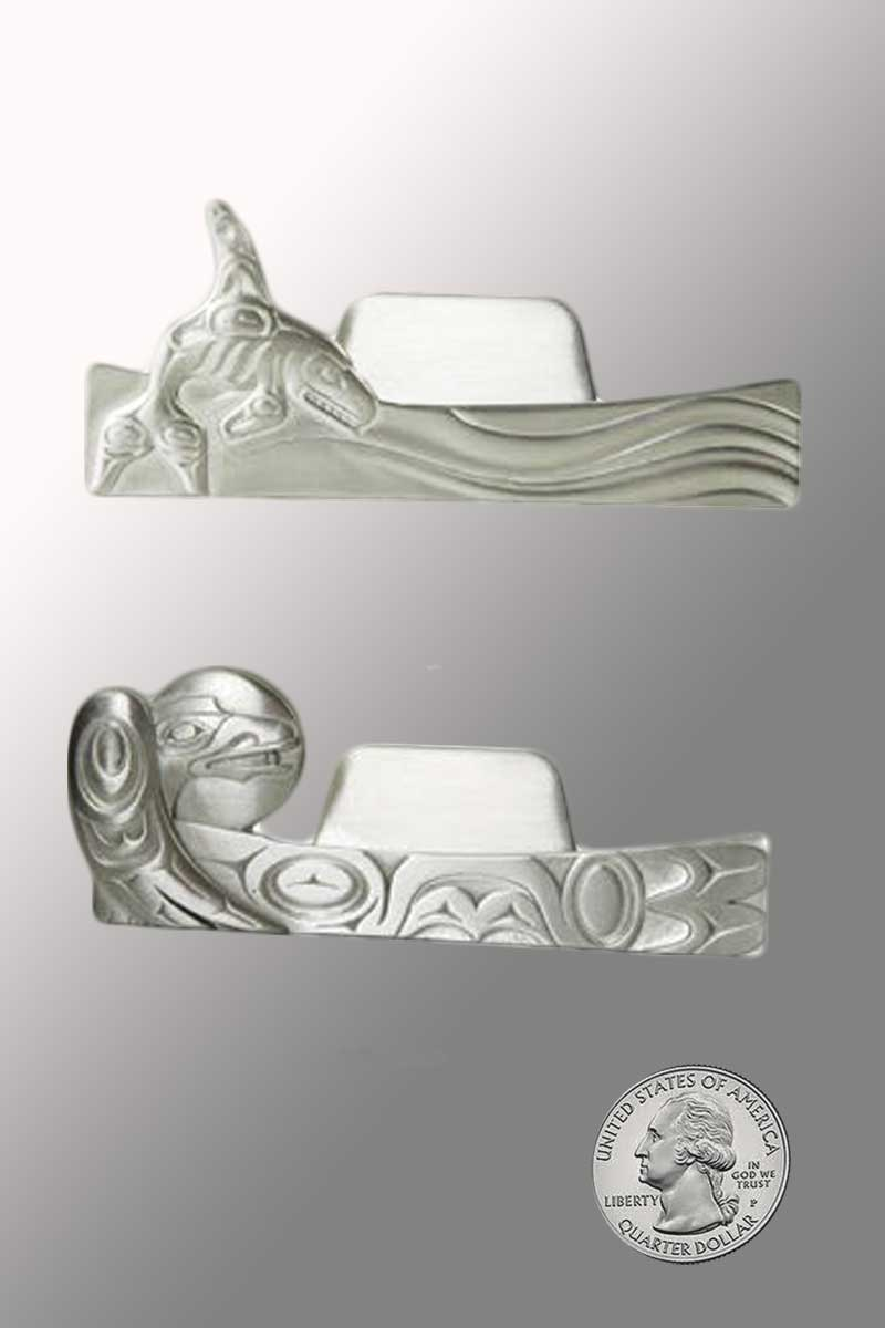 Silver Pewter Business Card Holder