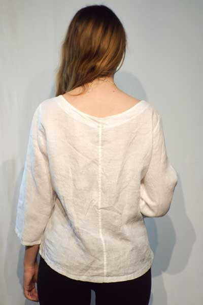 Italian Linen Blouse - Natural Clothing Company