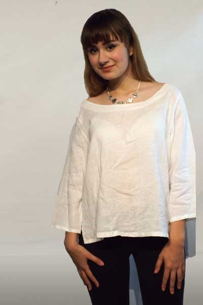 Italian Linen Blouse - Inizio - Natural Clothing Company