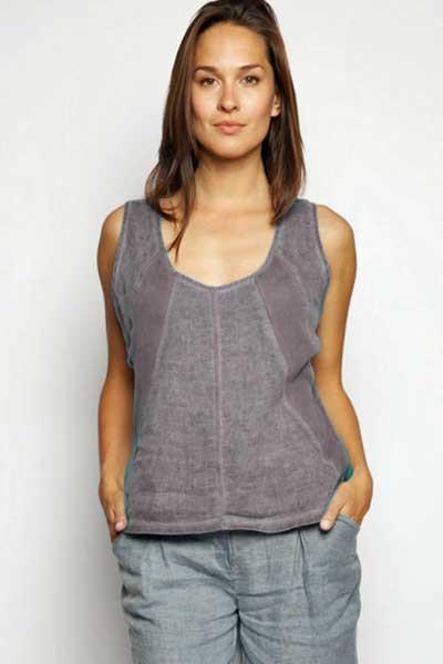 Italian Linen Top Seeveless - Natural Clothing Company