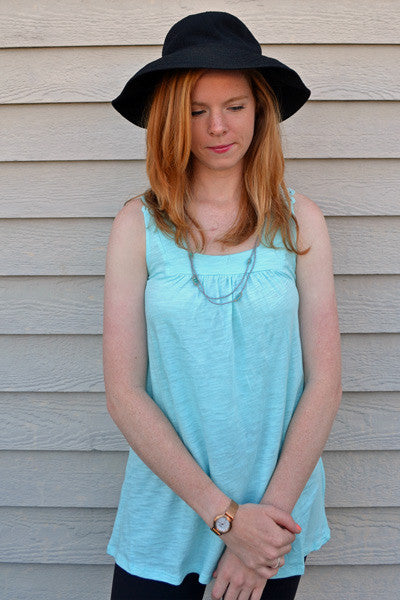 Lace Back Tank - Belle - Natural Clothing Company