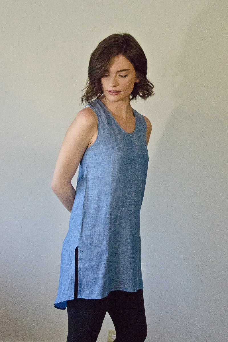 Linen Sleeveless Top - Long