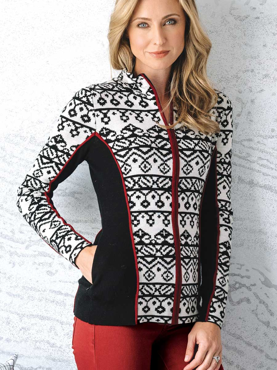 Full Zip Merino Wool Sweater - Christie