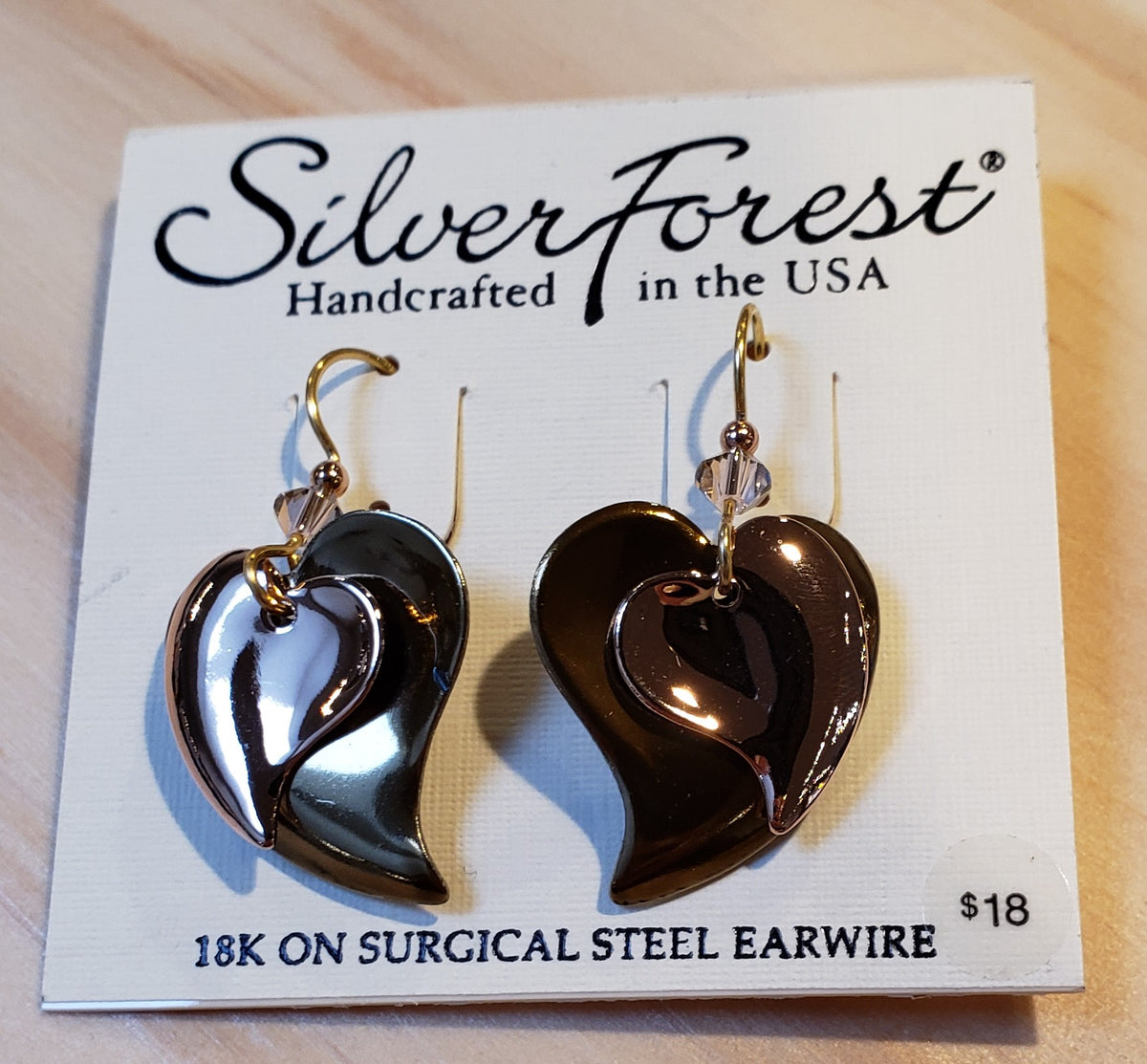 Silver Forest earrings