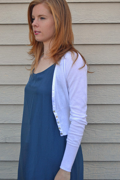 Organic Cotton Crop Cardi - Maya - Natural Clothing Company