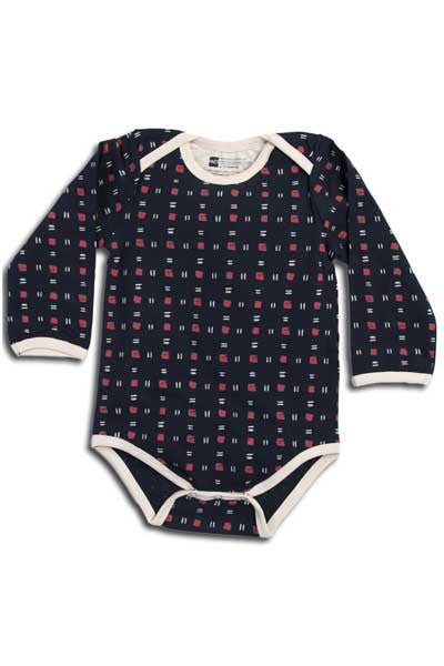 Organic Snap Body Suit, Long Sleeve- Sparrow - Natural Clothing Company