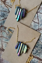 Rainbow Crystal Natural Stone Necklace - Natural Clothing Company