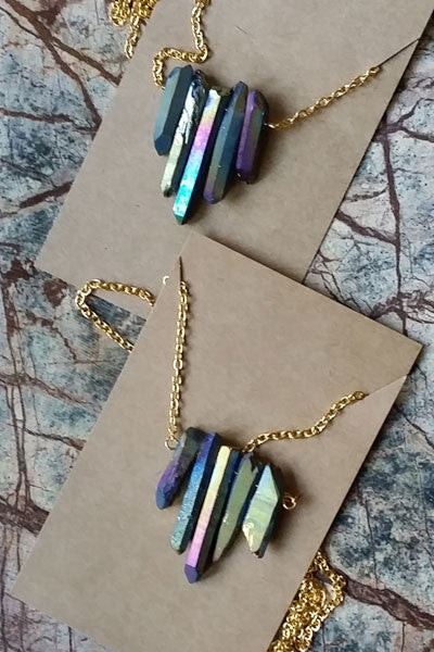 Rainbow Crystal Natural Stone Necklace