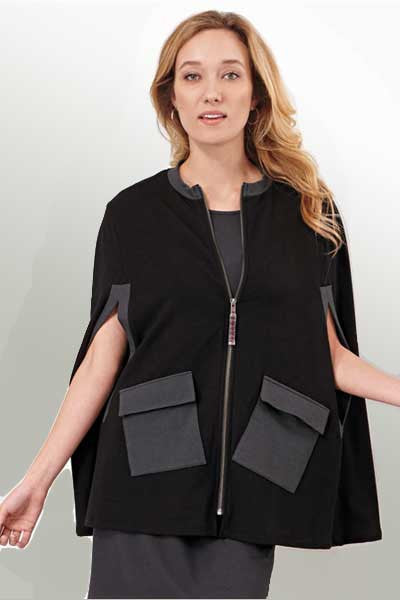 women's bamboo cape 1 Natural Clothing Company