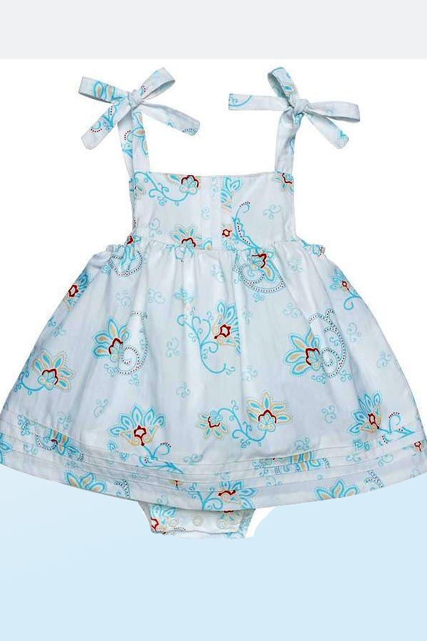 Organic Cotton Bubble Dress - Princess Petals - Natural Clothing Company
