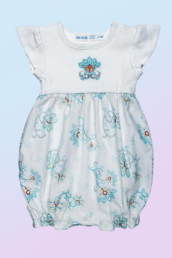 Organic Cotton Bubble Romper - Petals - Natural Clothing Company
