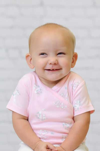 Organic Cotton Shirt and Pants Set - Bunny Print