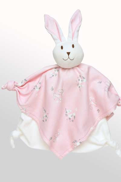 Baby Organic Cotton Sleeping Friend - Pink Bunny - Natural Clothing Company