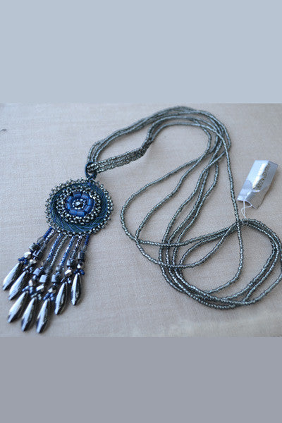 Beaded necklace with pendant - Natural Clothing Company
