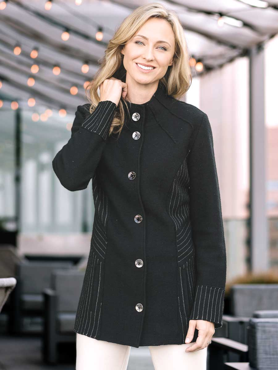 Boiled Wool Coat Jacket - Scarlette