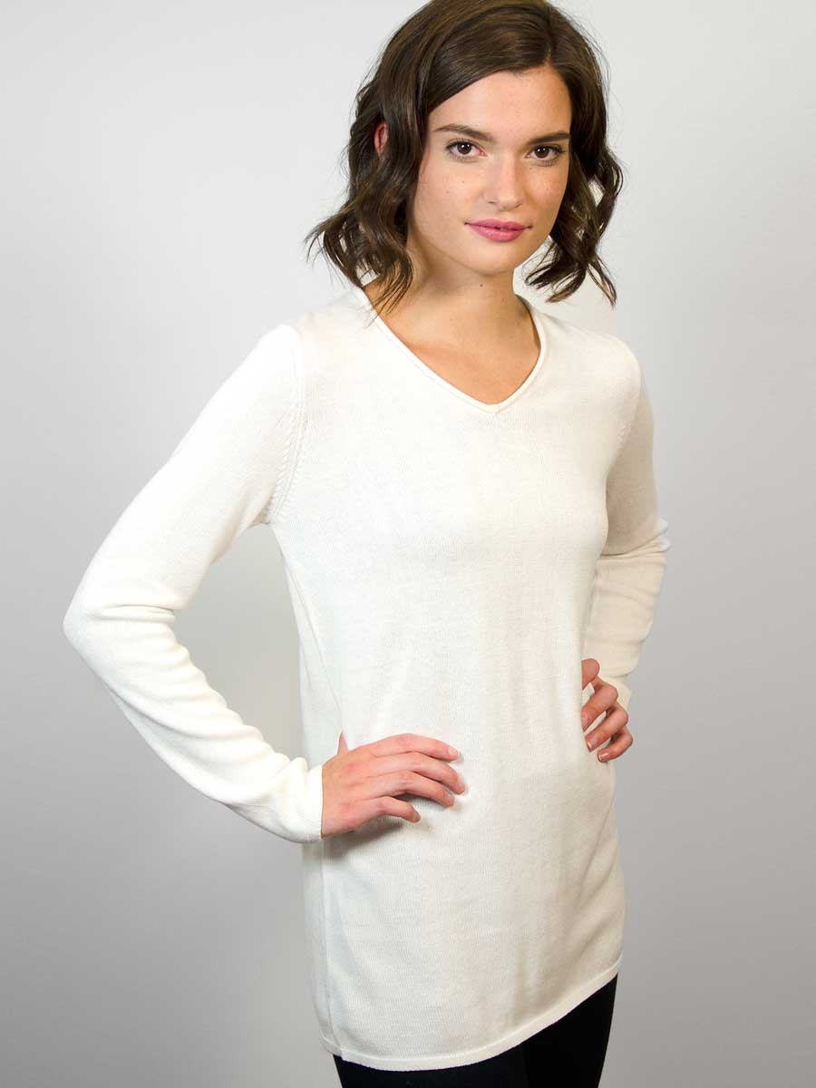 V-Neck Sweater - Cashmere blend