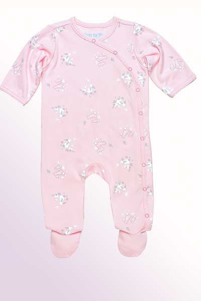 Organic Cotton Footie - Bunny Print - Natural Clothing Company