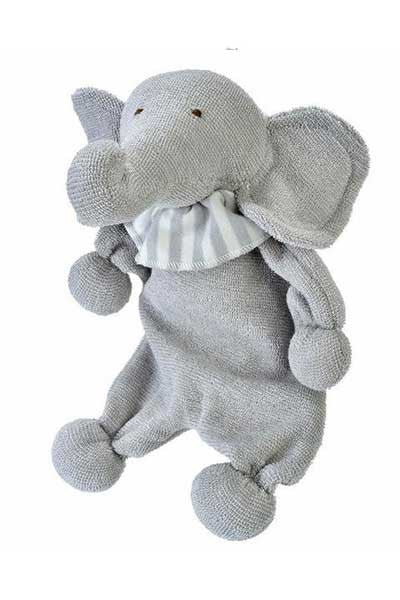 Organic Cotton Hippo Toy for Baby - Natural Clothing Company