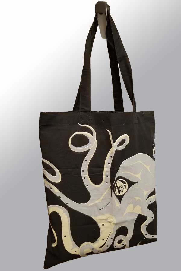 Cotton Shopping Bag - Octopus by A. Williams