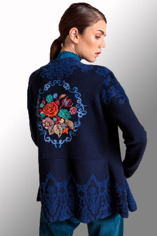 Knit Jacket from Ivko - embroided back
