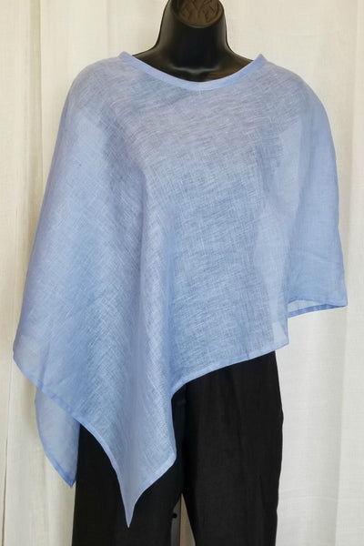 Light Linen Poncho - Sabrina - Natural Clothing Company