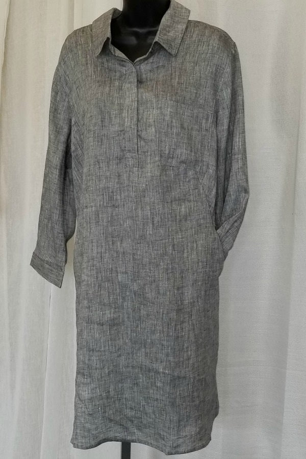 Linen Shirt Dress - Natural Clothing Company