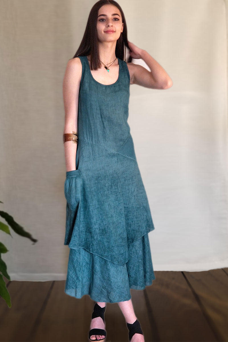 Italian Linen Dress by Inizio - Flutter