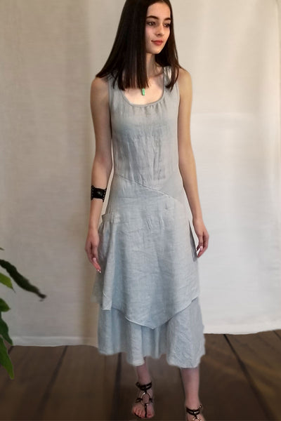 Italian Linen Dress by Inizio - Flutter (solid colors) - Natural Clothing Company