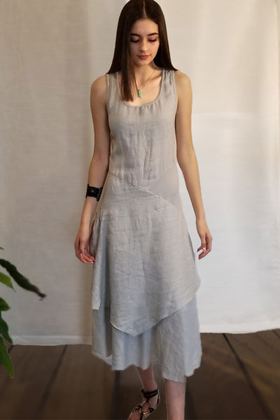 Italian Linen Dress by Inizio - Flutter (solid colors)