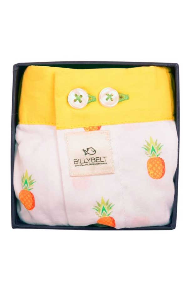 Men's Organic Cotton Boxers - Fruity Pineapple
