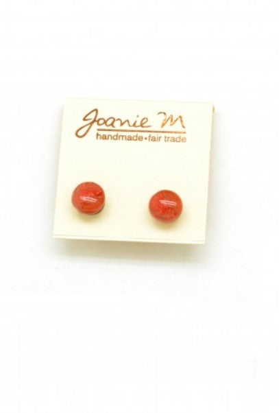 Handmade Fused Glass Earrings - studs