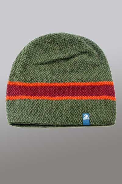 Eco yarn and Hemp Blend Beanie - Rasta