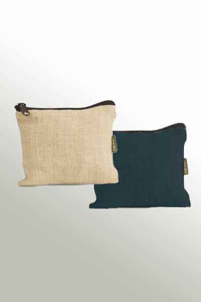 Hemp Pouch with Zipper