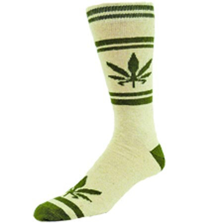 Men's Hemp Leaf Sock 10-13 - Natural Clothing Company