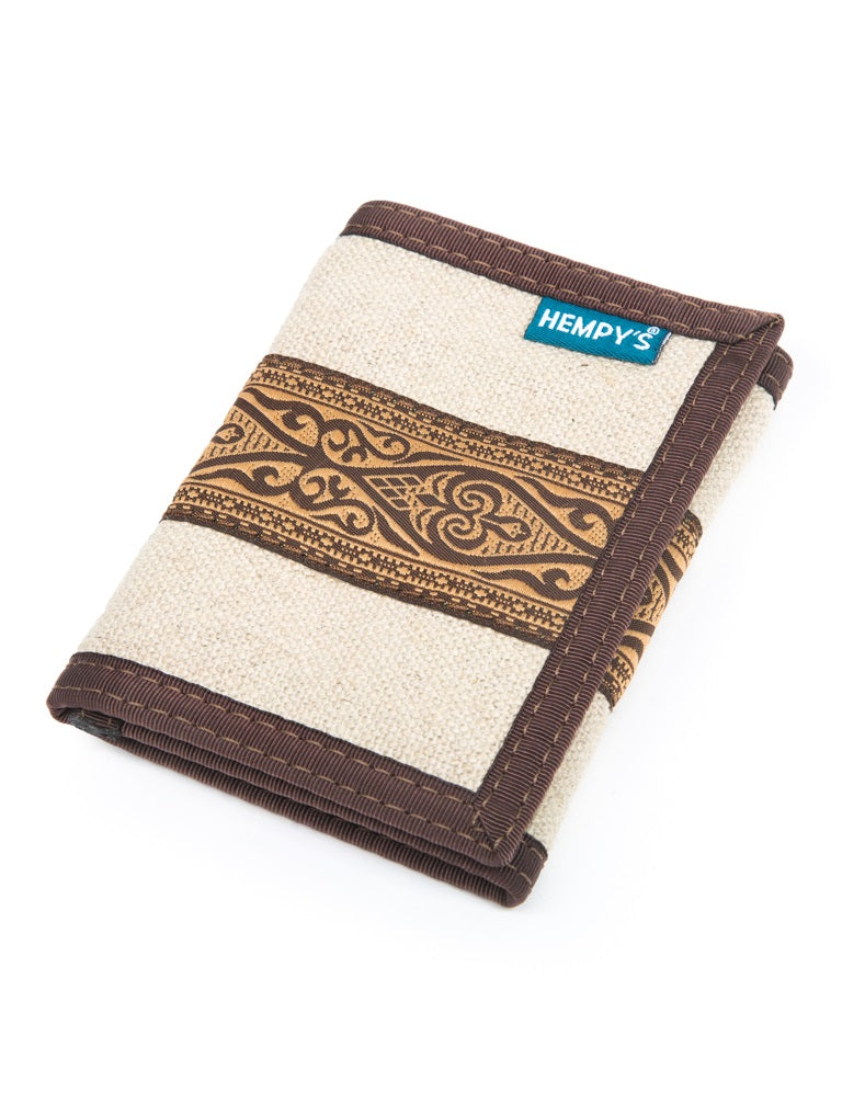 Hemp Wallet Tri-fold - Natural Clothing Company