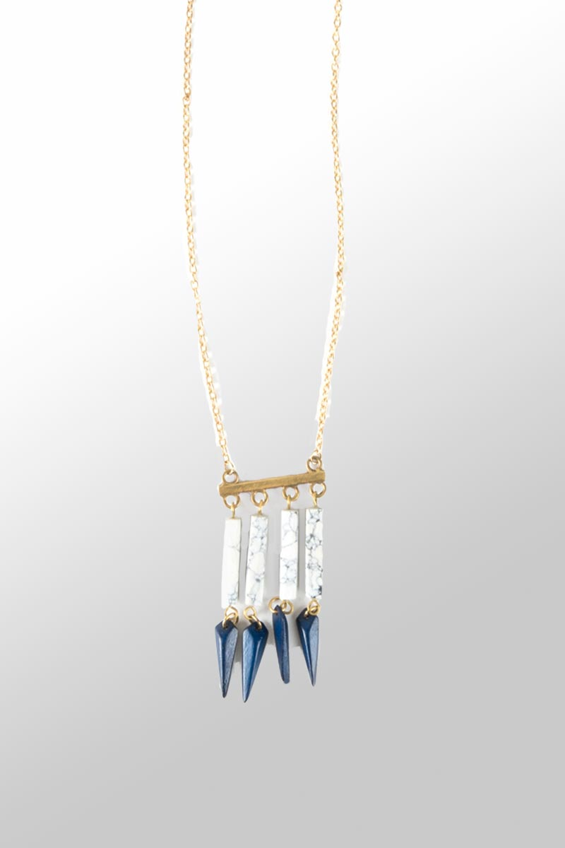 Huntress Necklace - navy - Natural Clothing Company