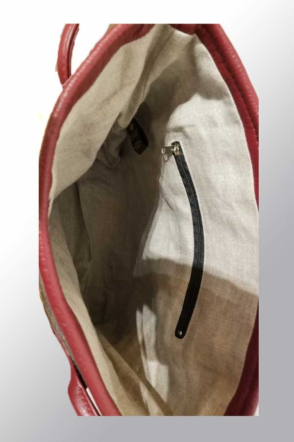Salmon Design Wool Felt Bag - art by Corrine Hunt