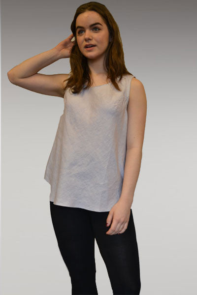 Linen Bias Tank - Scoop Neck - Natural Clothing Company