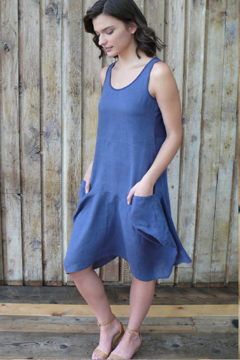 Organic Linen Dress - Portia - Natural Clothing Company