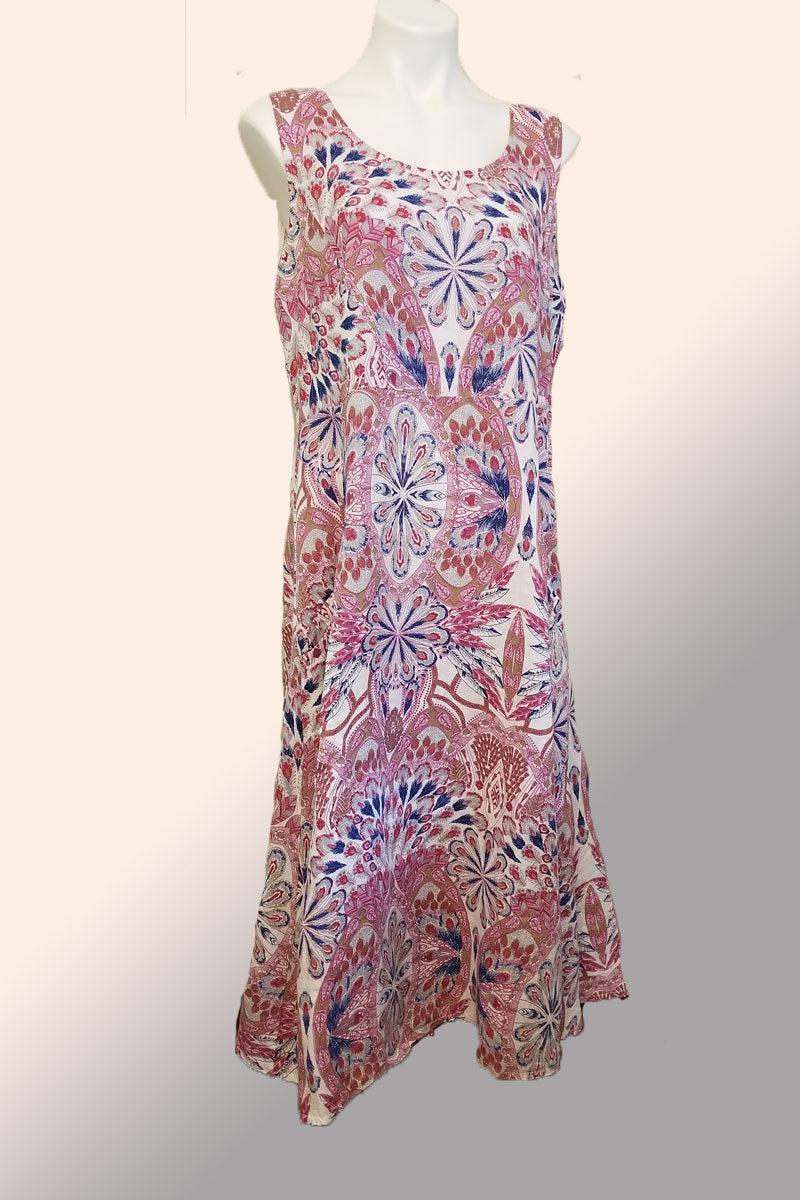 Linen Maxi Dress - Luca Vanucci
