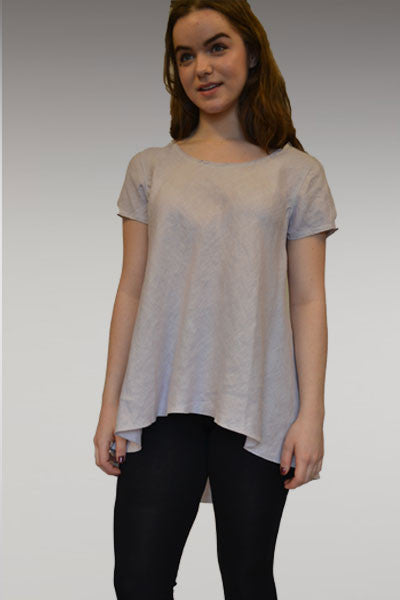 Linen Bias Short Sleeve Tee/Tunic - Natural Clothing Company