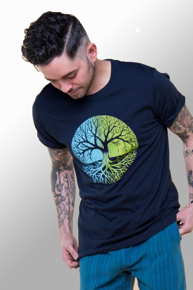 Men's Hemp blend Tee - Tree Of Life