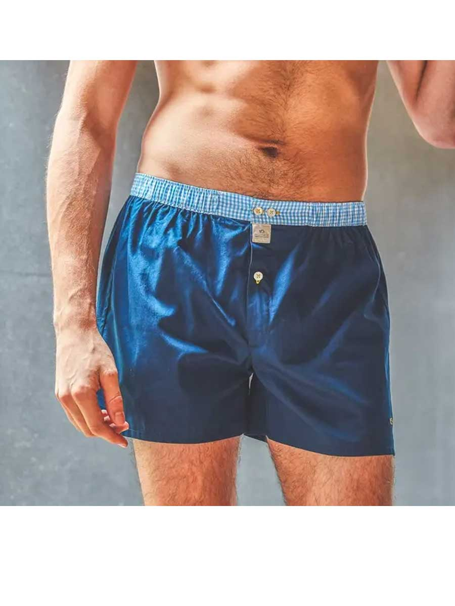 Men's Organic Cotton Boxers - navy blue