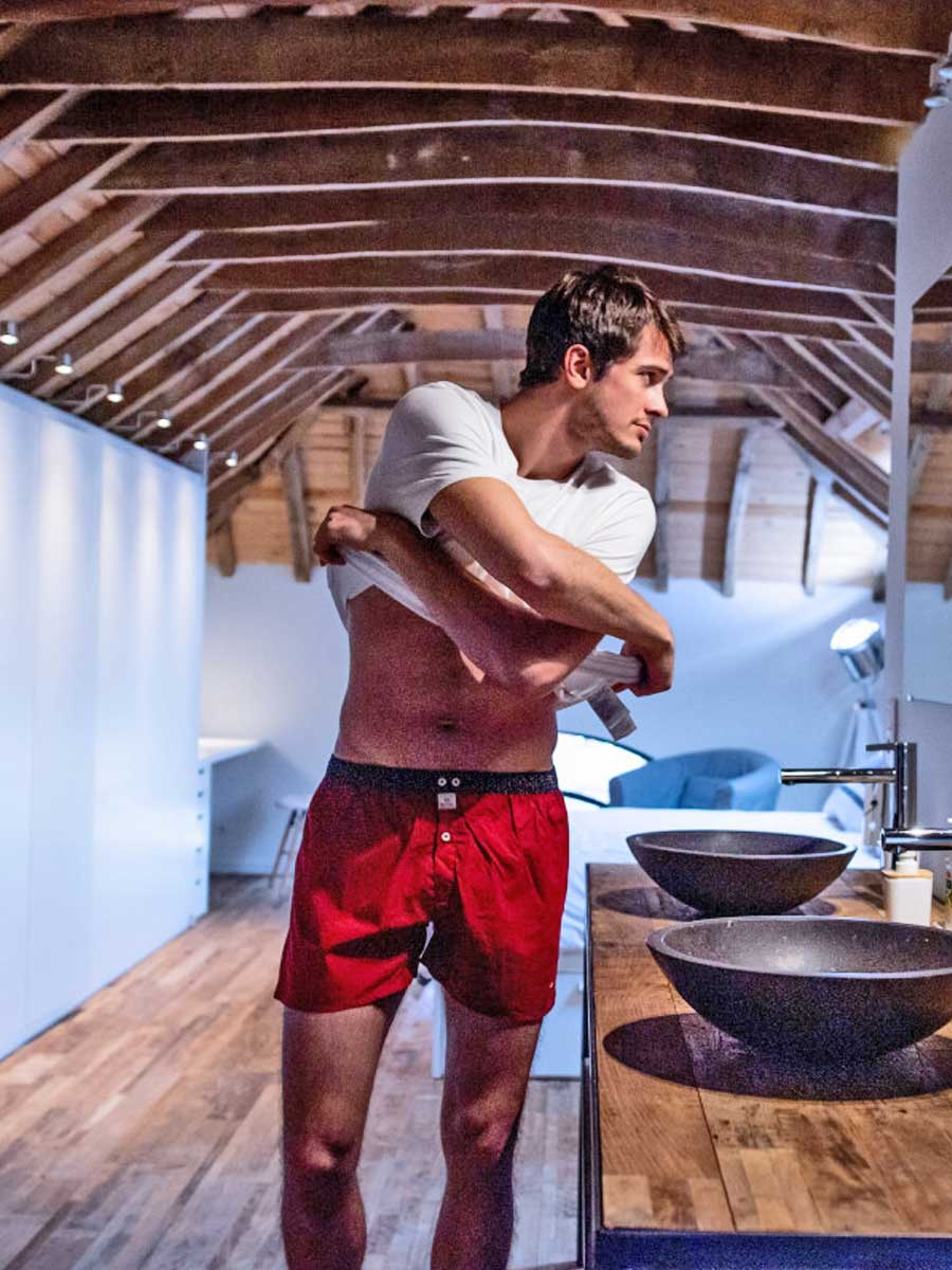Men's Organic Cotton Boxers - woven colored